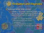 evaluation and diagnosis