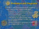 evaluation and diagnosis18