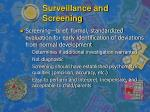 surveillance and screening10