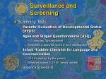 surveillance and screening12