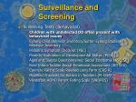 surveillance and screening14