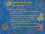surveillance and screening15