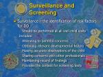 surveillance and screening7