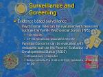 surveillance and screening8