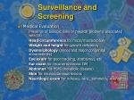 surveillance and screening9