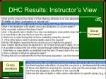 dhc results instructor s view