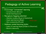 pedagogy of active learning