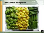 con surtidos de vegetales