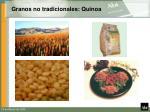 granos no tradicionales quinoa
