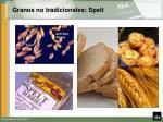 granos no tradicionales spelt
