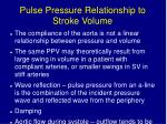 pulse pressure relationship to stroke volume