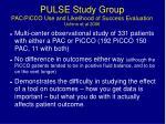 pulse study group pac picco use and likelihood of success evaluation uchino et al 2006
