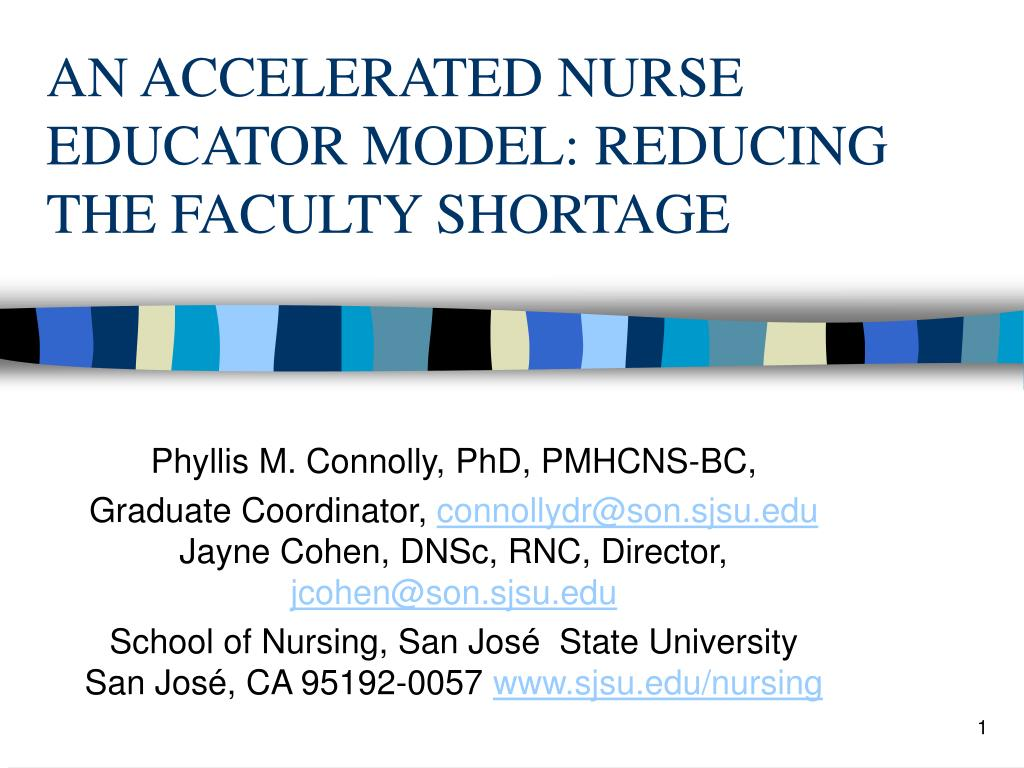 an accelerated nurse educator model reducing the faculty shortage l.