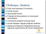 challenges students