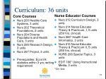curriculum 36 units