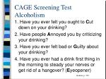 cage screening test alcoholism