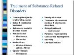 treatment of substance related disorders
