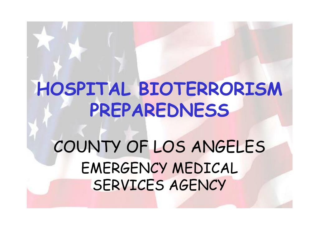hospital bioterrorism preparedness l.