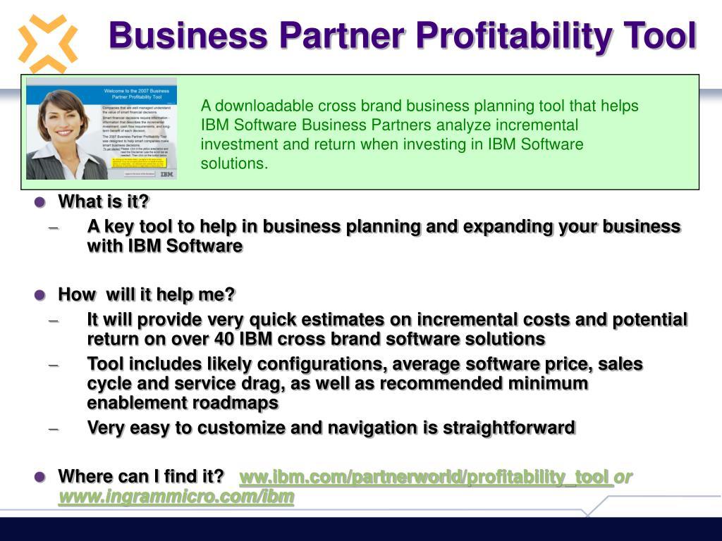 Business Partner Profitability Tool