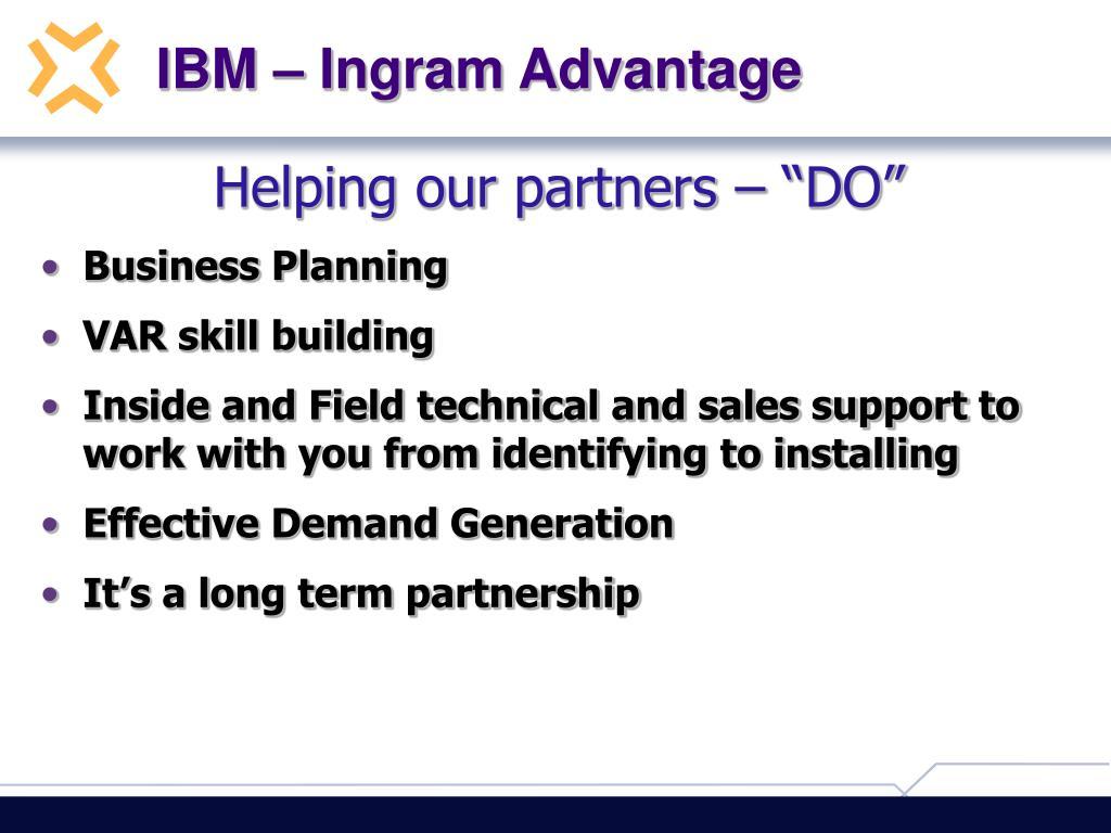 IBM – Ingram Advantage