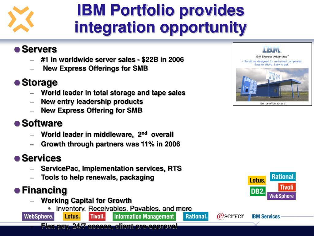 IBM Portfolio provides integration opportunity