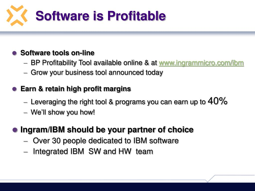Software is Profitable