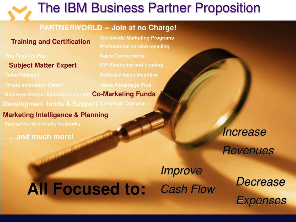 The IBM Business Partner Proposition
