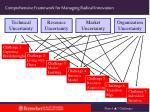 comprehensive framework for managing radical innovation
