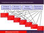 comprehensive framework for managing radical innovation50