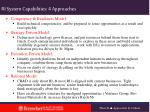 ri system capabilities 4 approaches