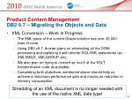 product content management db2 9 7 migrating the objects and data50