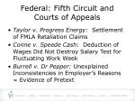 federal fifth circuit and courts of appeals