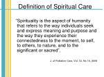 definition of spiritual care
