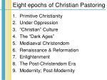 eight epochs of christian pastoring