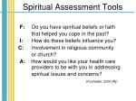 spiritual assessment tools29