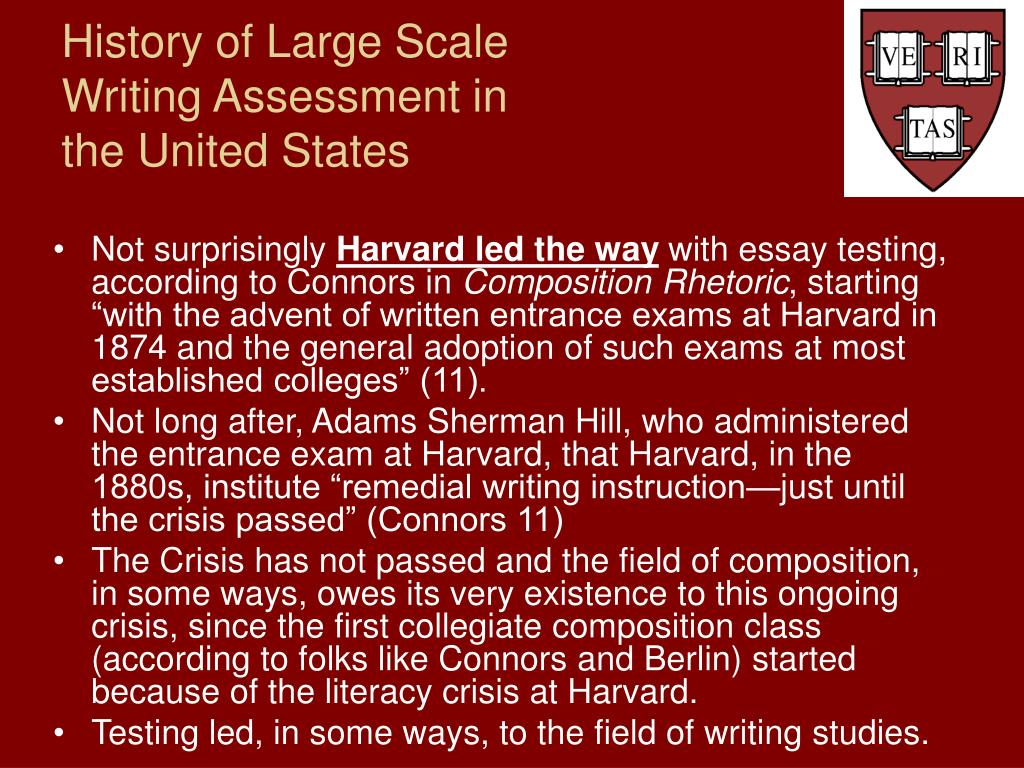 history of large scale writing assessment in the united states l.
