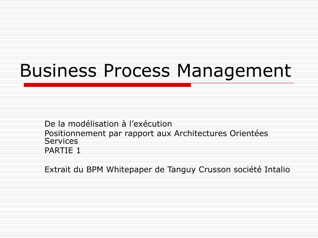 business process management l.