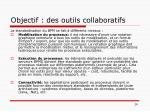 objectif des outils collaboratifs