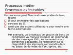 processus m tier processus ex cutables