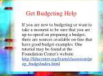 get budgeting help