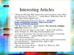 interesting articles