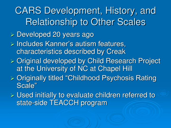 the history and characteristics of autism Behavioral characteristics of children with autism spectrum disorders behavioral characteristics of behavioral characteristics of children with autism.