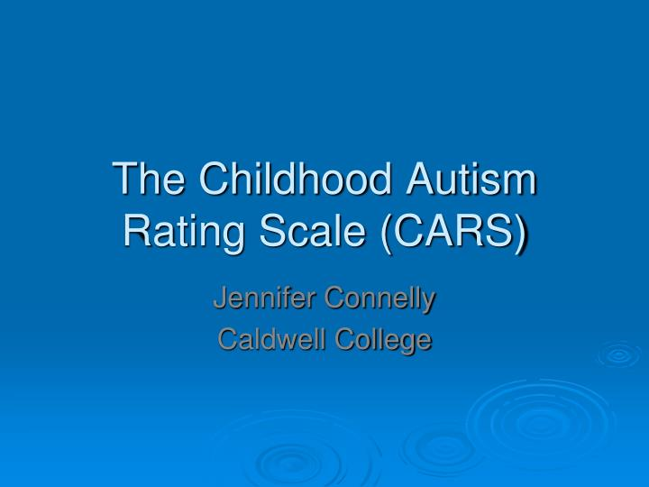 the childhood autism rating scale cars n.