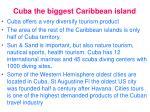 cuba the biggest caribbean island