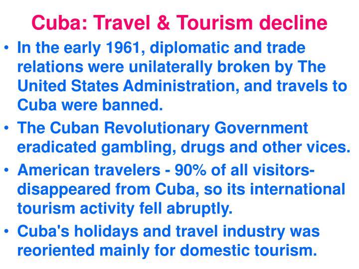 Cuba travel tourism decline