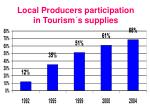 local producers participation in tourism s supplies