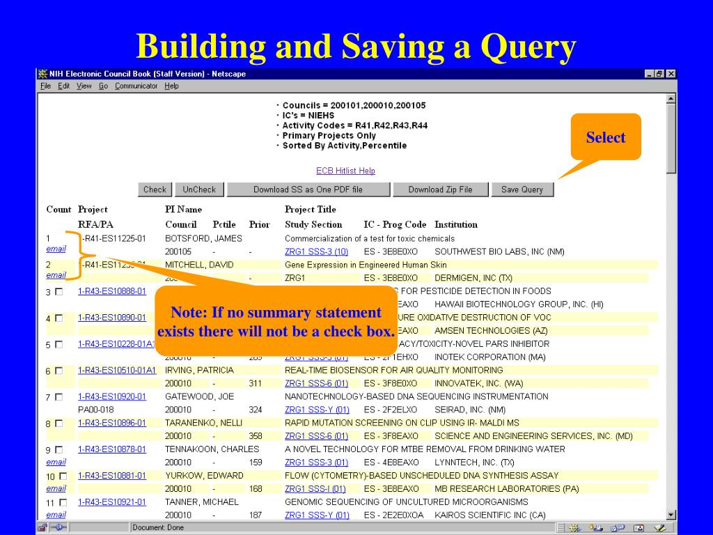 Building and Saving a Query