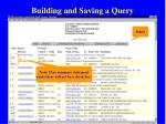 building and saving a query61