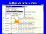 building and saving a query63