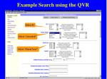 example search using the qvr38